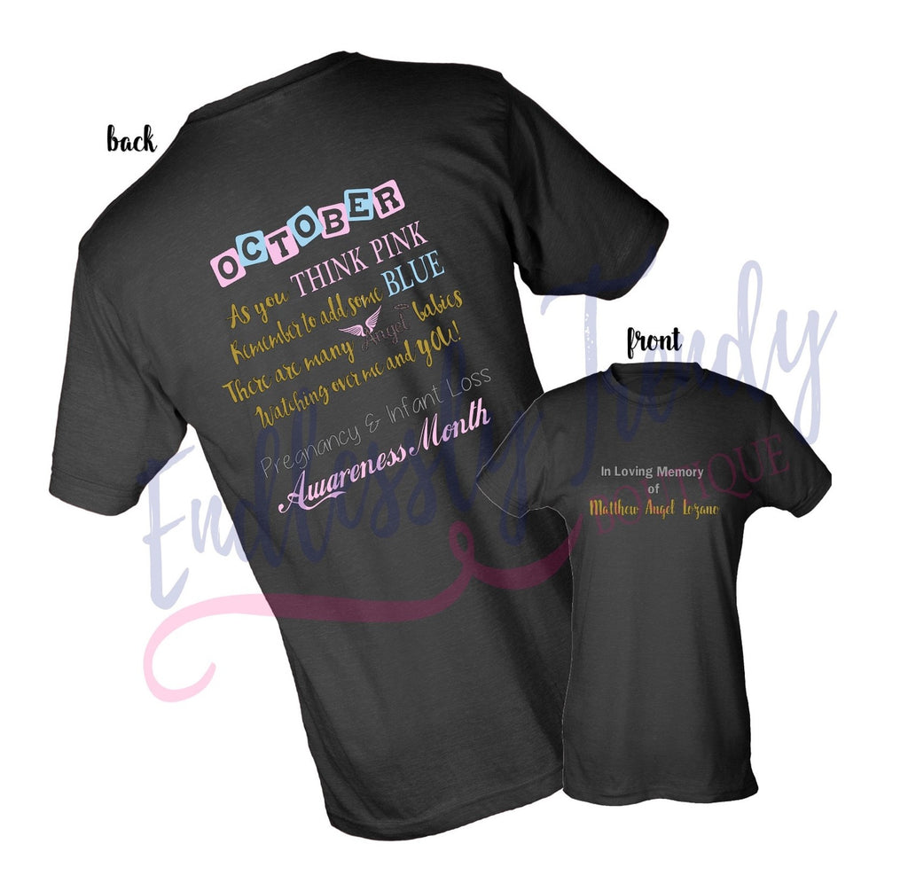 October Pregnancy and Infant Loss Awareness Shirt - - Endlessly Trendy Boutique