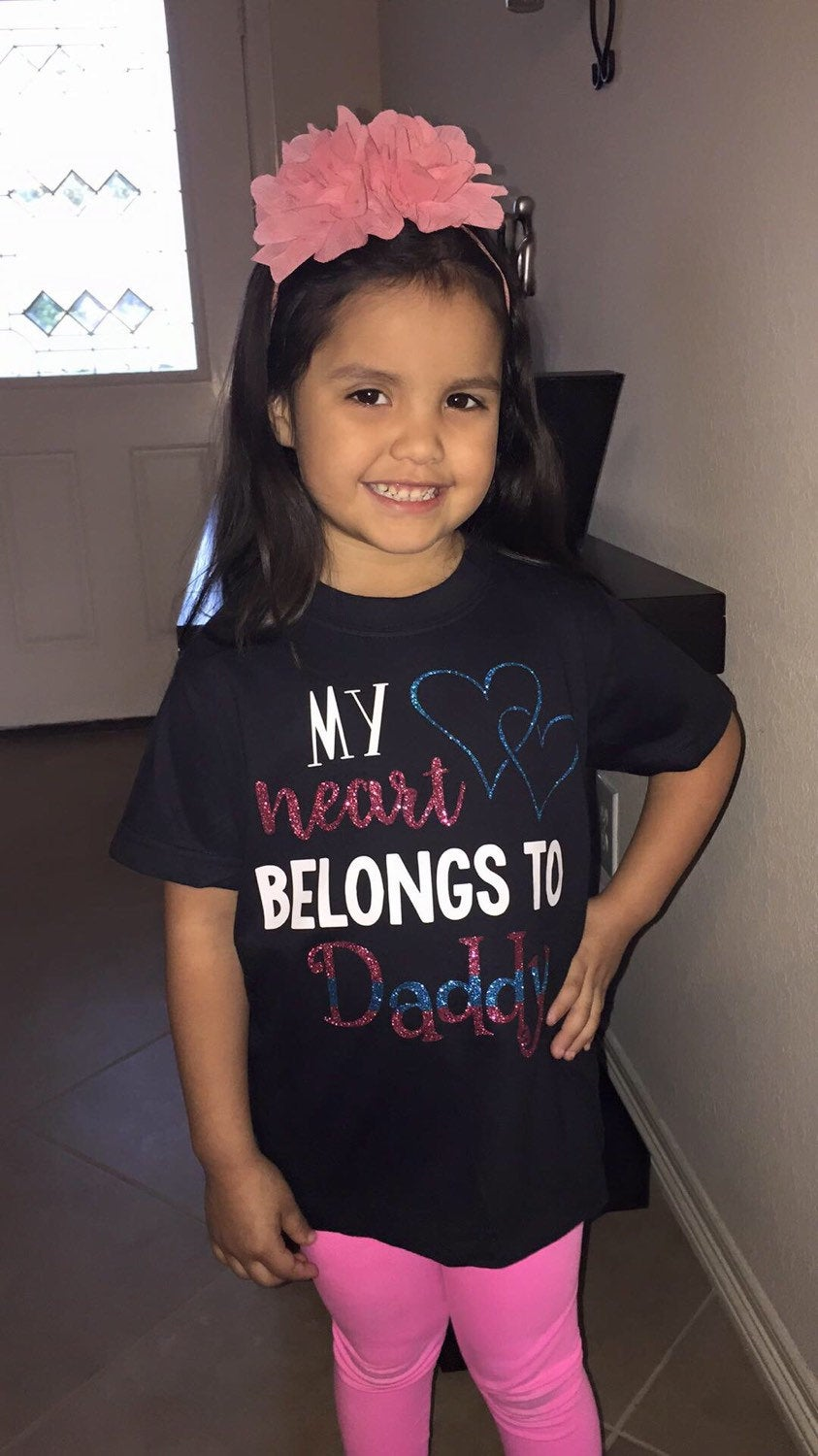 My Heart Belongs to Daddy Police Themed Tee - - Endlessly Trendy Boutique