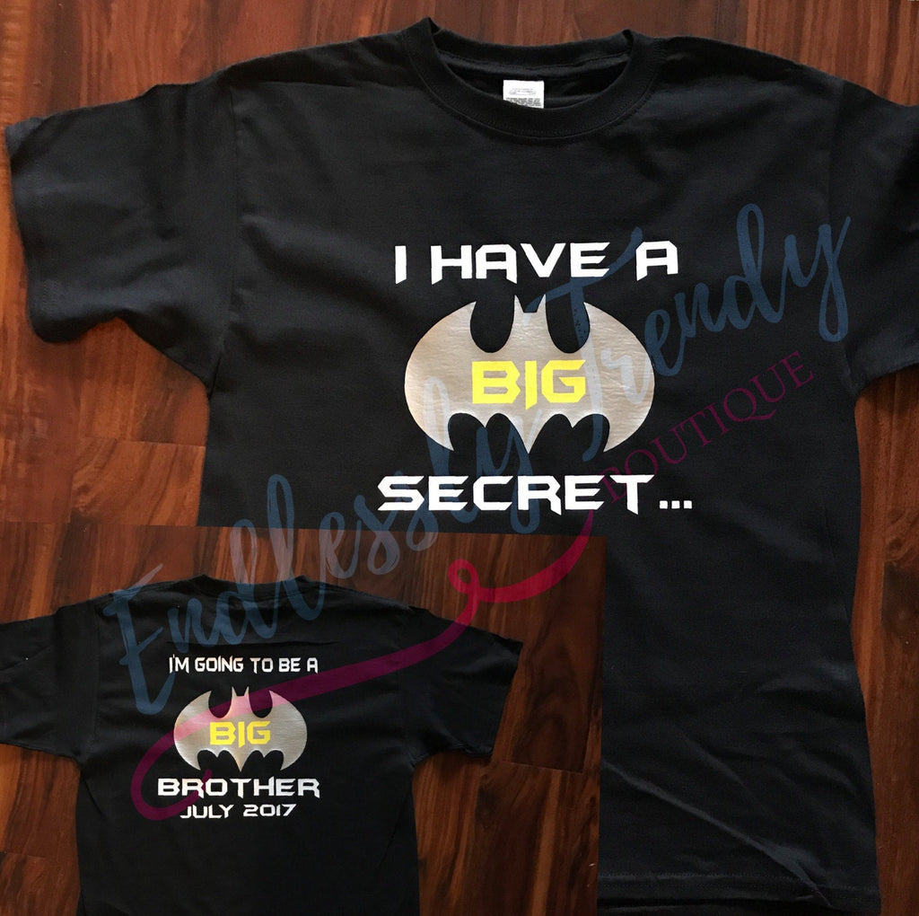 Batman Themed Pregnancy Announcement Tee - - Endlessly Trendy Boutique