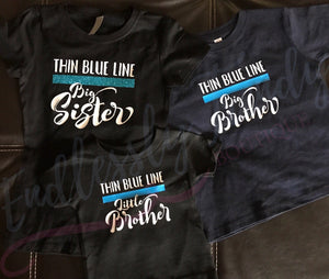 TBL Thin Blue Line Support Tshirt - - Endlessly Trendy Boutique