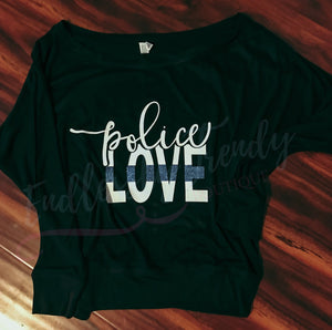 Police Love Tee - - Endlessly Trendy Boutique