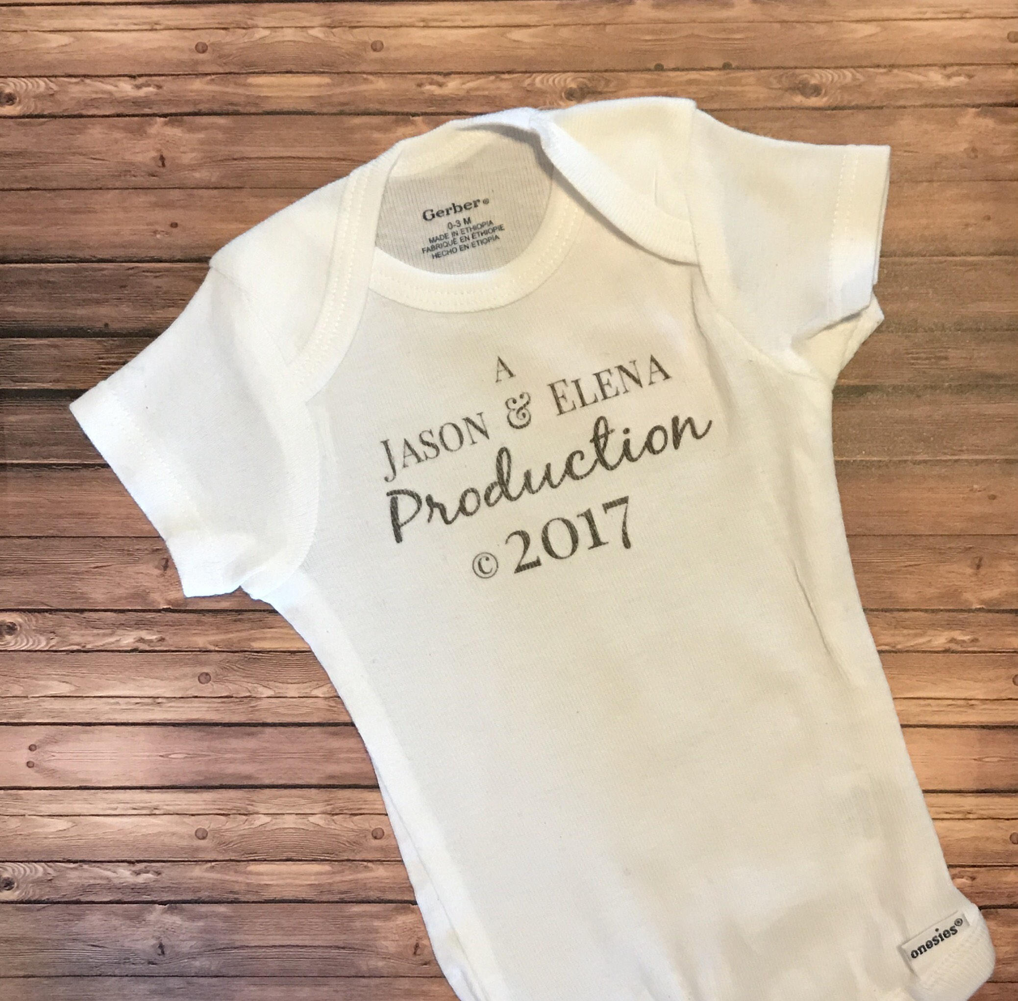 Custom Onesie® -  A {Insert Parent's Name Here} Production * - Endlessly Trendy Boutique