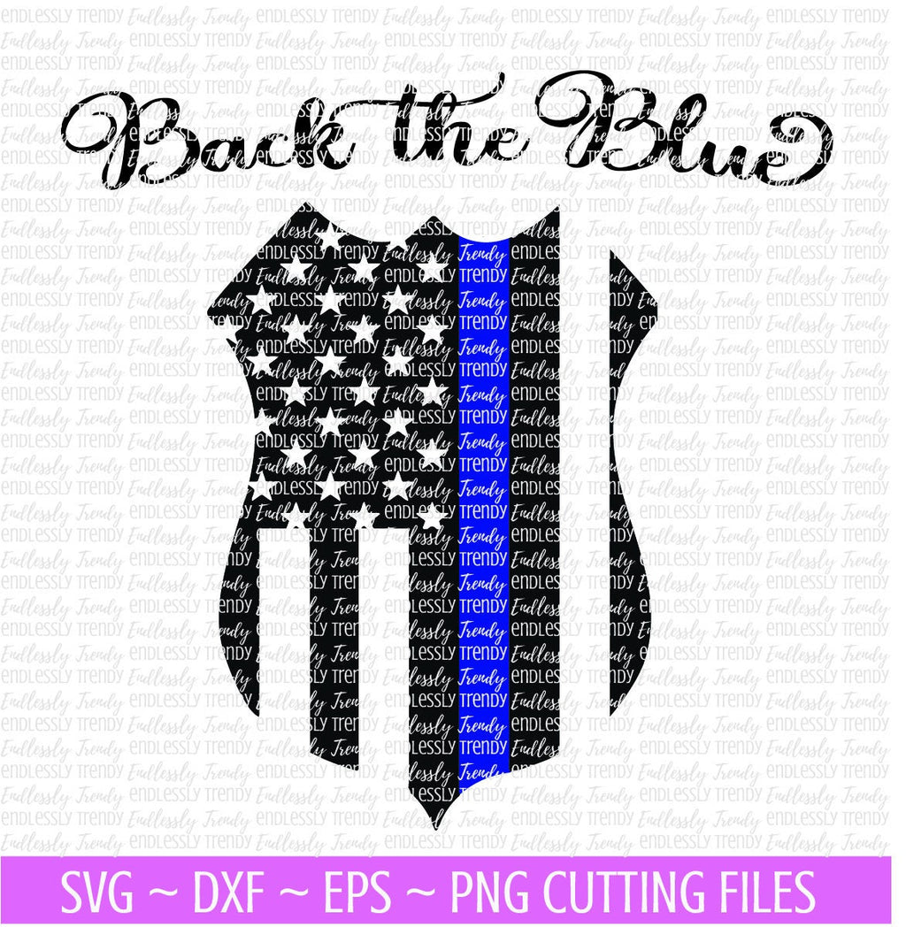 Tbl Police Shield Flag - SVG - - Endlessly Trendy Boutique