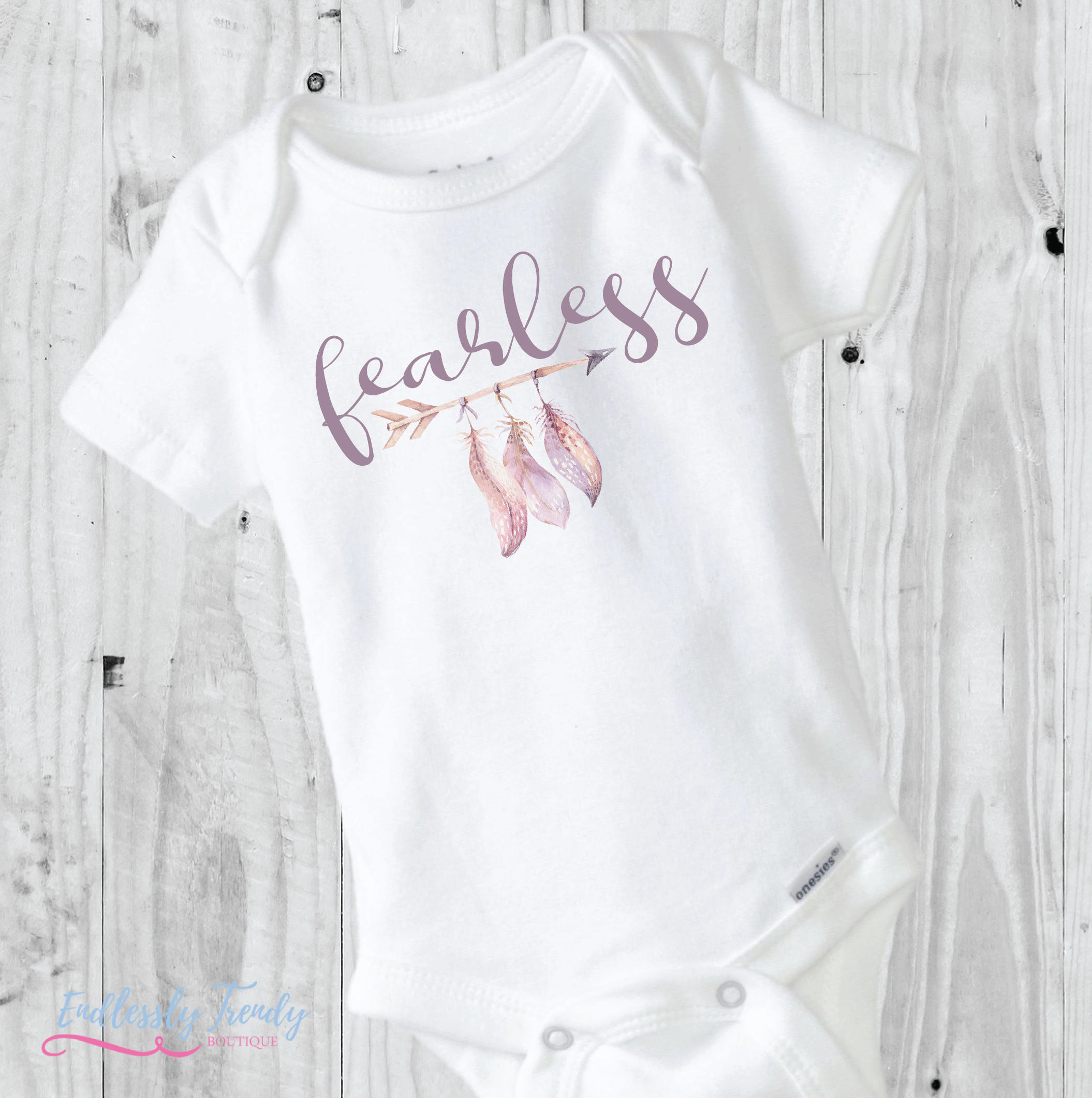 Fearless Feathers Arrows Cute Onesies® - Watercolor Baby - - Endlessly Trendy Boutique