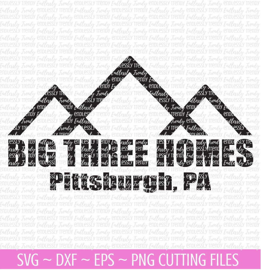 Big Three Homes This is Us - SVG File - - Endlessly Trendy Boutique