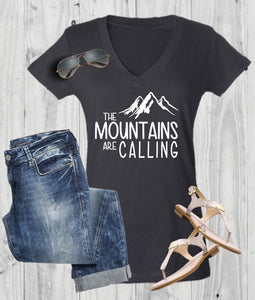 The Mountains Are Calling Vacation Tee - - Endlessly Trendy Boutique