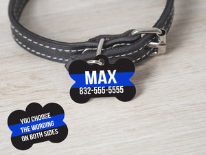Thin Blue Line Police Dog Tag - - Endlessly Trendy Boutique