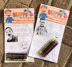 Blippi Themed OR Any Theme YOUR child - Personalized Birthday Party Favors Set of 10 - - Endlessly Trendy Boutique