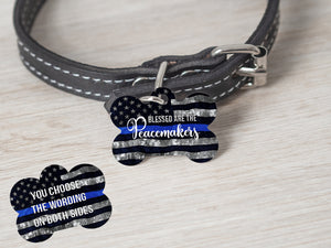 Blessed Are The Peacemakers- TBL Police Dog Tag - - Endlessly Trendy Boutique