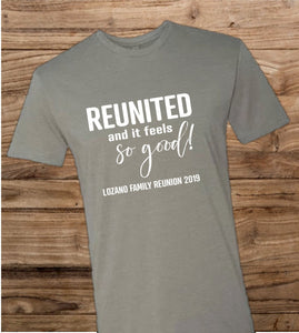 Family Reunion Tee - Reunited and it Feels So Good - - Endlessly Trendy Boutique