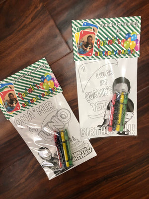 Wild Plaid Theme OR Any Theme YOUR child - Personalized Birthday Party Favors Set of 10 - - Endlessly Trendy Boutique