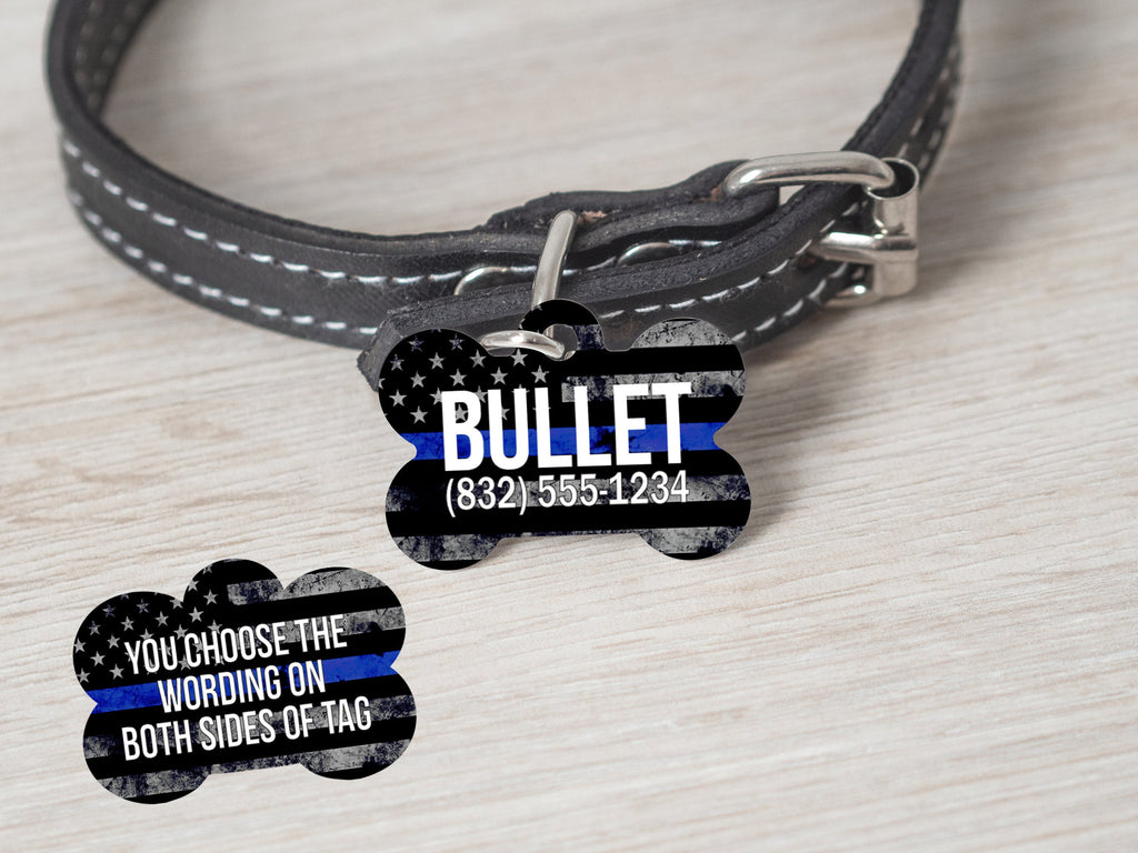 TBL - Thin Blue Line Police Dog Tag - - Endlessly Trendy Boutique