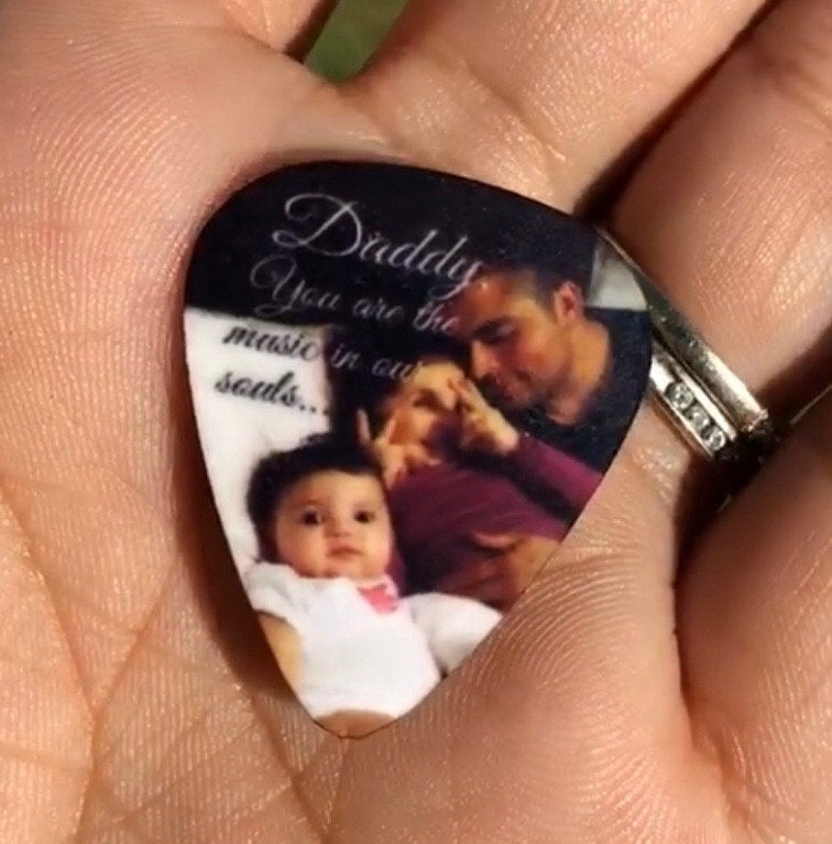 Personalized Guitar Pick with Photo or Quote or Both - - Endlessly Trendy Boutique