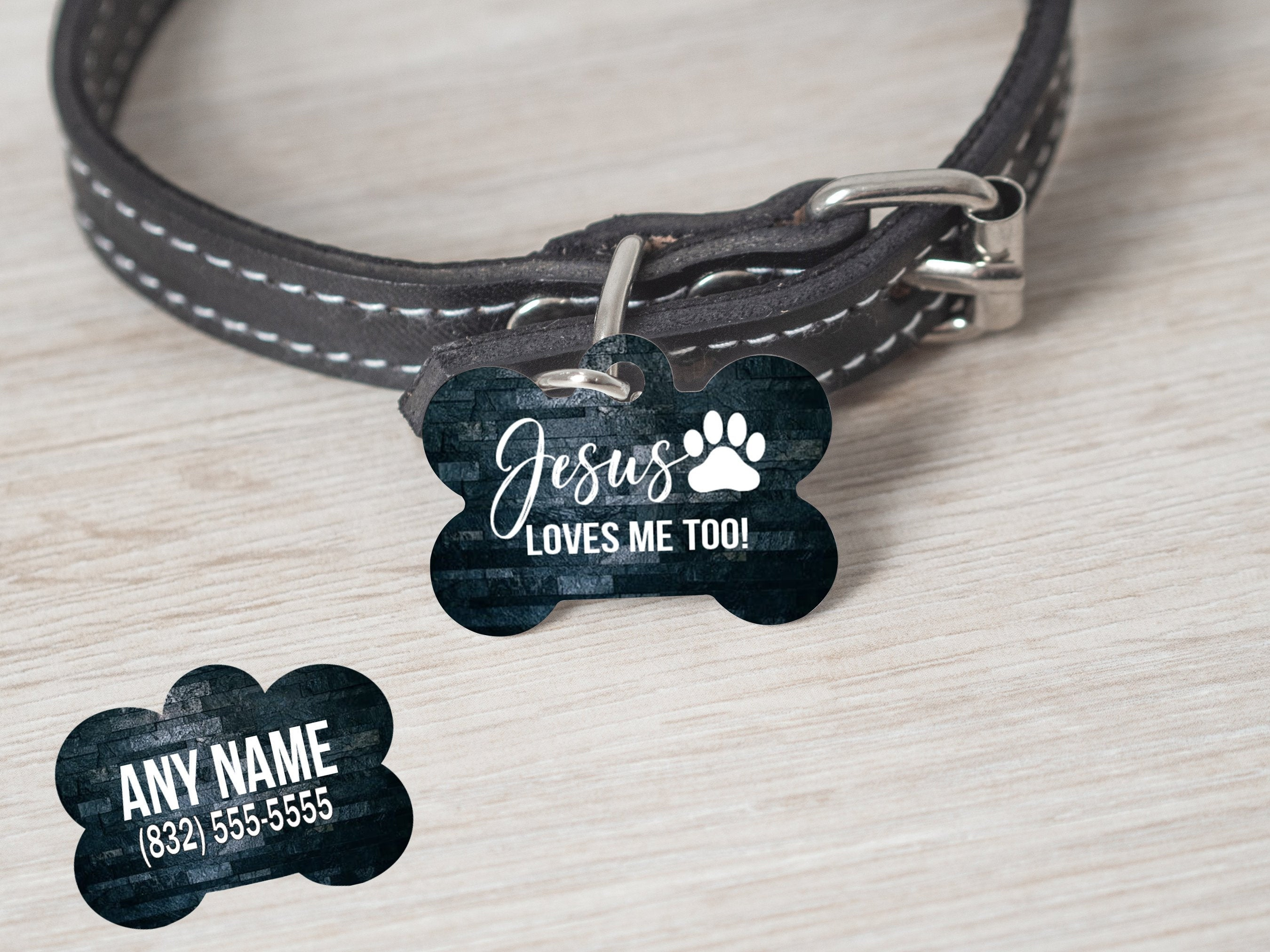 2 Sided Jesus Loves Me Too - Jesus Themed Christian Religious Dog Tag - - Endlessly Trendy Boutique