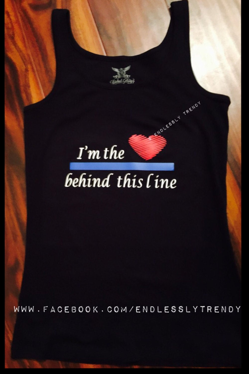 I'm the Heart Behind This Line - Police Wife Tee- - Endlessly Trendy Boutique