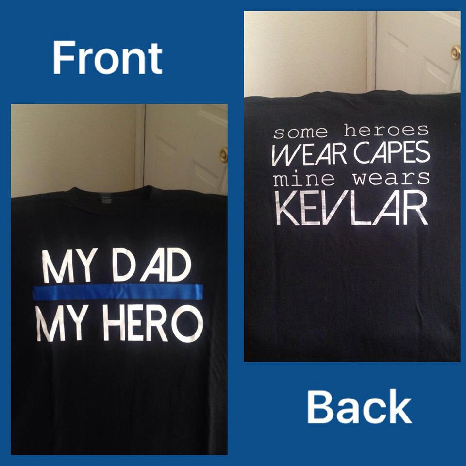 """My Dad/My Hero"" Police Themed Kids Tee - - Endlessly Trendy Boutique"
