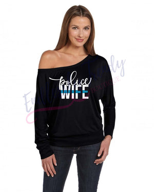 Law Enforcement Wife Thin Blue Line Shirt - - Endlessly Trendy Boutique