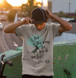 """I AM"" the Way, the Truth, The Life John 14:6 Inspirational Jesus T-Shirt - - Endlessly Trendy Boutique"