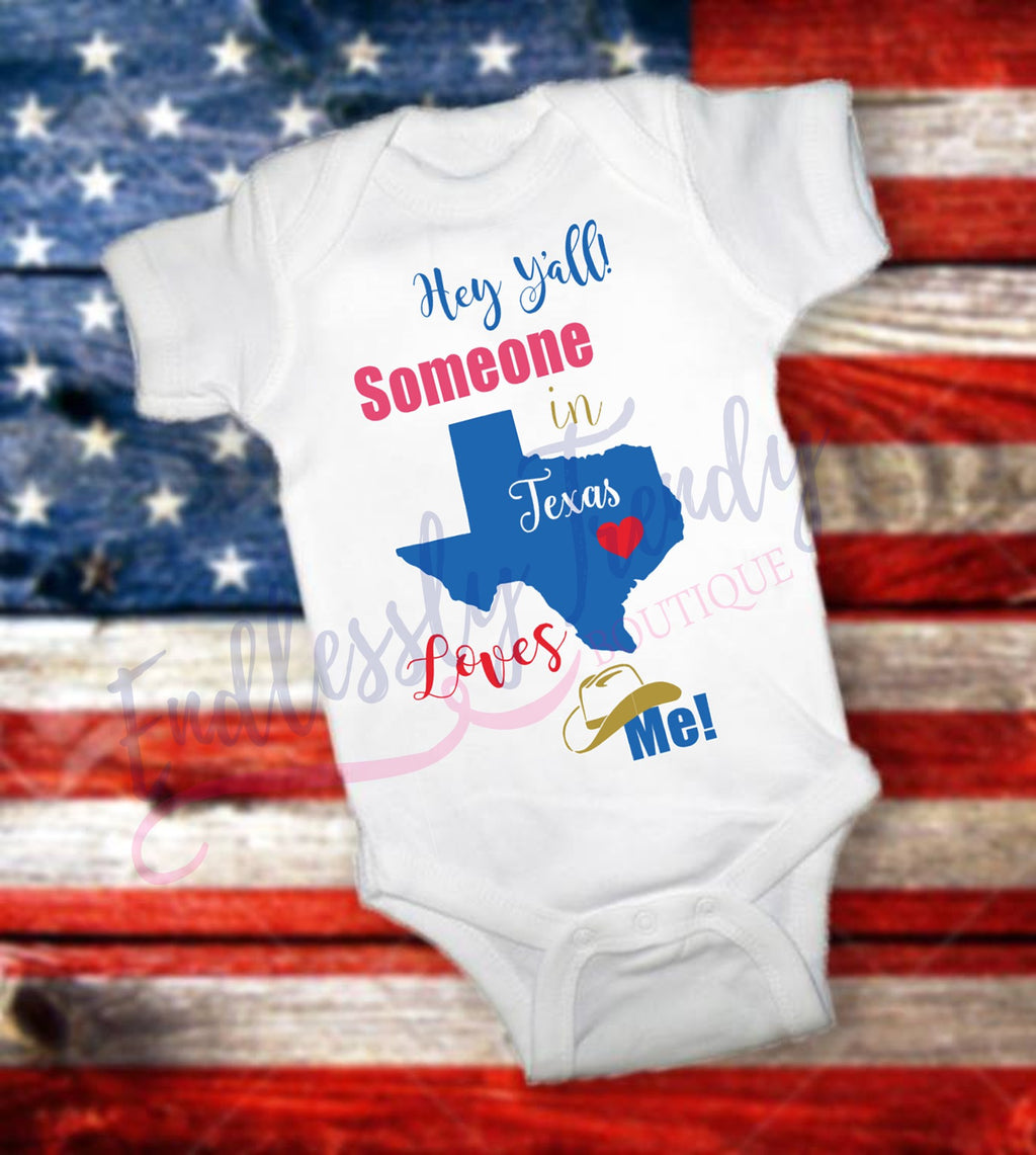 Someone in Texas, Georgia {or Insert State Here} Loves me Onesie® or Tee - Endlessly Trendy Boutique