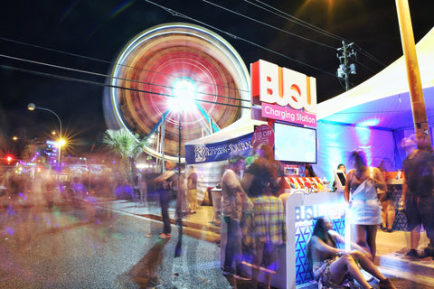 BUQU free charging stations at music festivals