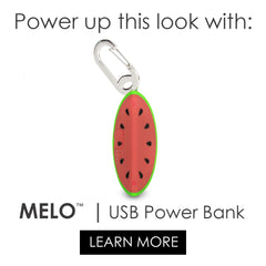 MELO- cute watermelon power bank phone charger