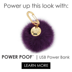 POWER POOF- purse charm power bank phone charger