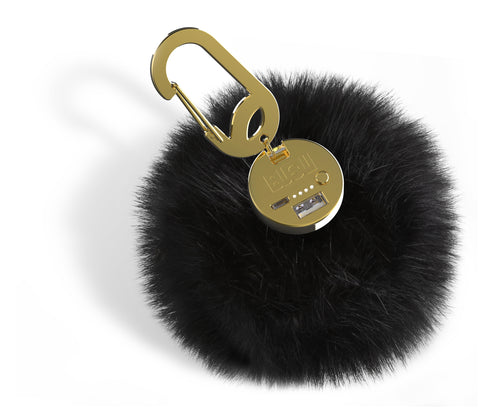 Tillys Cotton Candy Pom Keychain Bag Charm
