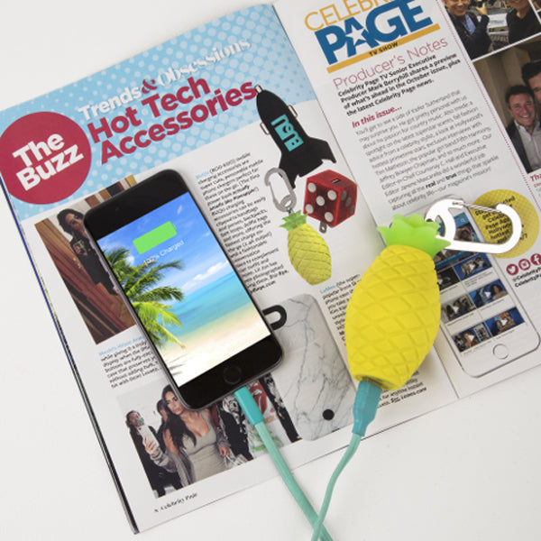 celebrity page magazine pineapple power bank