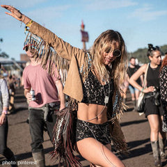 fringe jacket for festival outfit