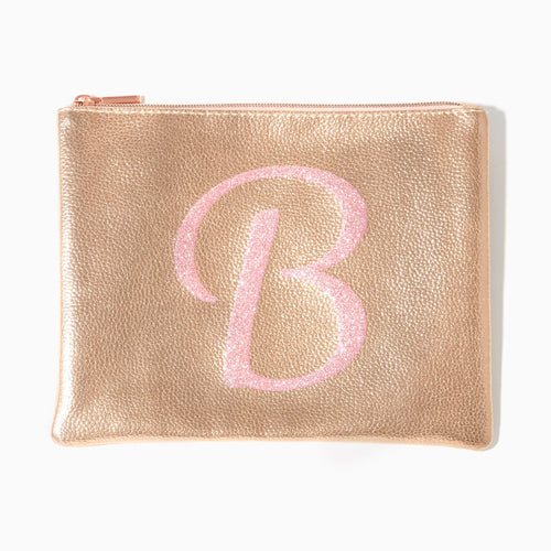 Charming Charlie glitter makeup pouch valentine's day gift