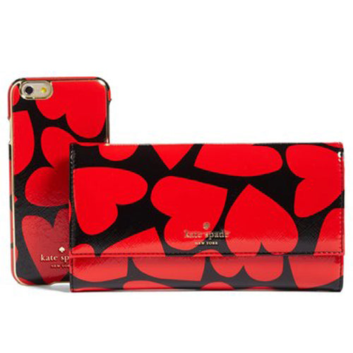 Kate Spade New York iPhone wallet case purse Valentine's day gift hearts