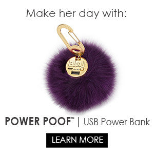 POWER POOF- Purse Charm Power Bank