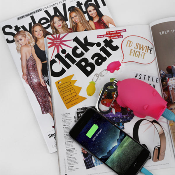 Style Watch magazine chubs pig power bank