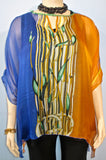 Sterling Styles Wearable Art Bamboo Print Top - SoCal Queen