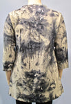 Sterling Styles Wearable Art Batiked Linen Top - SoCal Queen