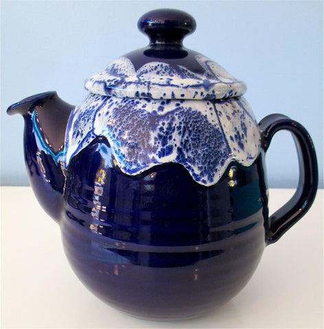 Richard White Fine Porcelain Tea Pot in Sapphire