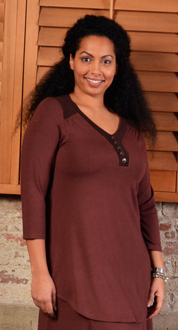 Diane Kennedy Henley Tunic - SoCal Queen