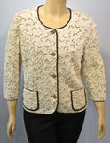Liola Winter White Raised Jacket - SoCal Queen