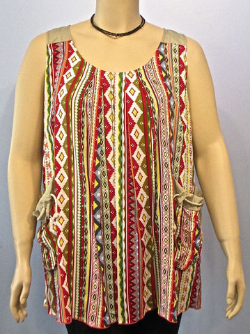 Tara Vao Sleeveless Santa Fe Top - SoCal Queen