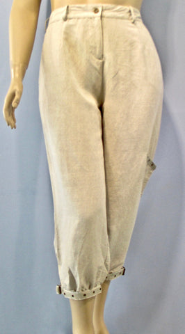 Tara Vao Natural Grommet Ankle Pant - SoCal Queen