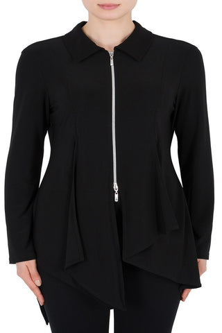 Joseph Ribkoff Collared Zip Front Jacket - SoCal Queen
