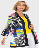 Joseph Ribkoff Open Front Satin Jacket - SoCal Queen
