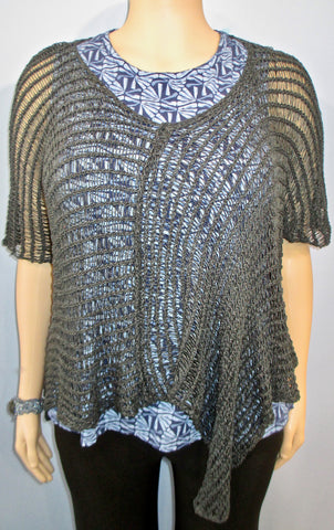 B & K Zuza Lace Hershal Overlay in Slate - SoCal Queen