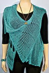 B & K Zuza Lace Prospect Overlay in Teal - SoCal Queen