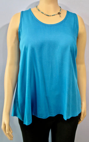 Lyng Designs Textured Sleeveless Tunic in Turquoise - SoCal Queen