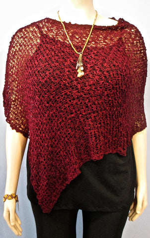 Lyng Designs Merlot Poncho - SoCal Queen