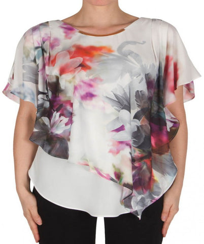 Joseph Ribkoff Gardenia Layered Top - SoCal Queen