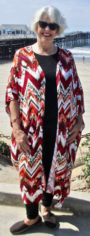 JFD Red Chevron Duster - SoCal Queen