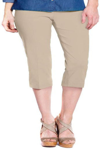 Slim Sation Stone Pull-on Capri Pant - SoCal Queen