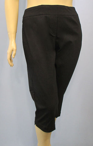 Slim Sation Black Pull-on Capri Pant - SoCal Queen